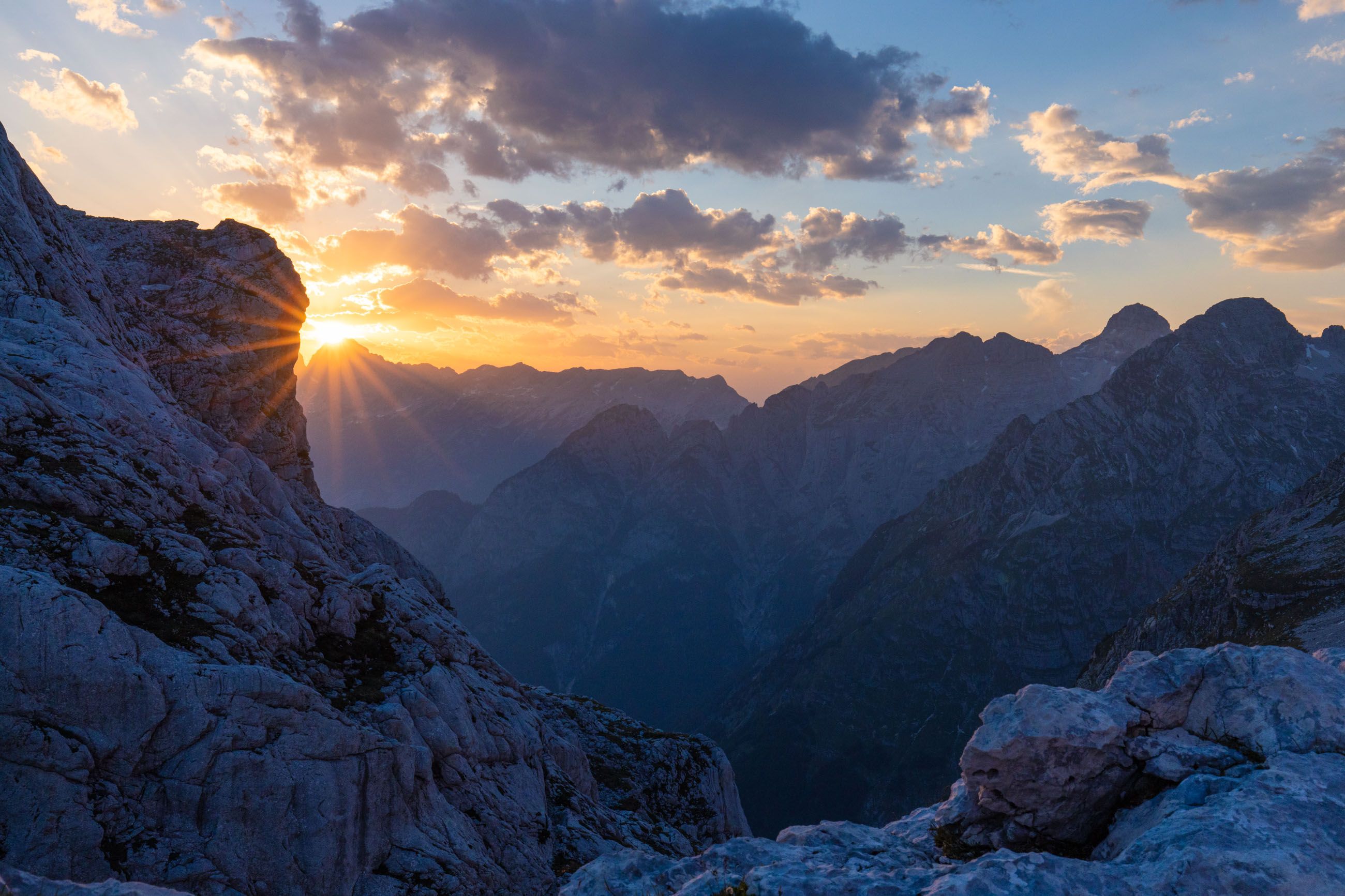 Sunset in the Julian Alps